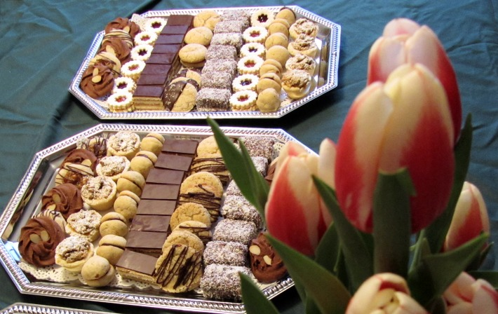pastry assortment tray